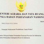 Kementerian ATR/BPN Terbitkan Surat tentang Petunjuk Pelaksanaan Pendaftaran Tanah Wakaf