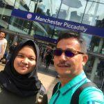 Sampai di Manchester, setelah 2.5 jam naik K A dari London